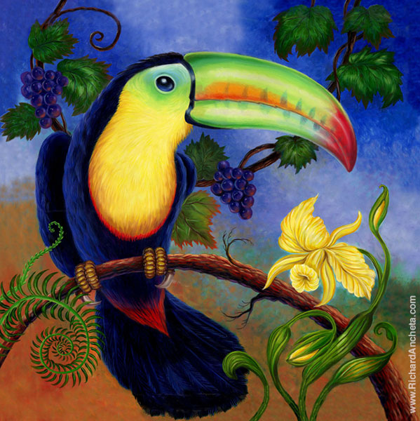 Toucan Painting by Richard Ancheta - Montreal