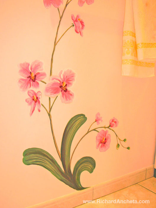 Mural painting flowers images for Mural of flowers
