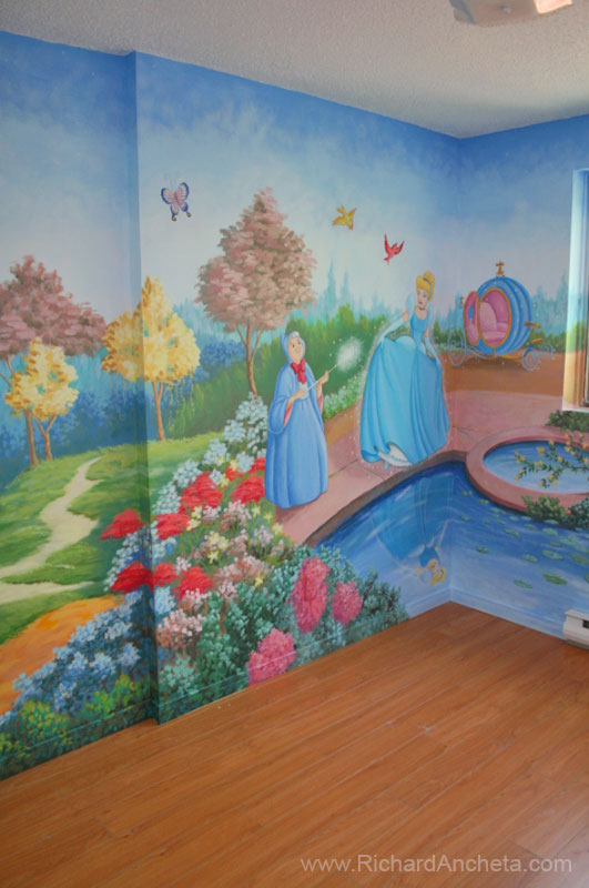Children Mural Disney Princess Cinderella Part 88