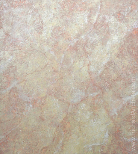 Yellow Sienna Marble - Faux Finish Oil Painting