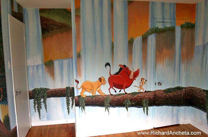 Children 39 s murals animal painting montreal for Baby nursery mural