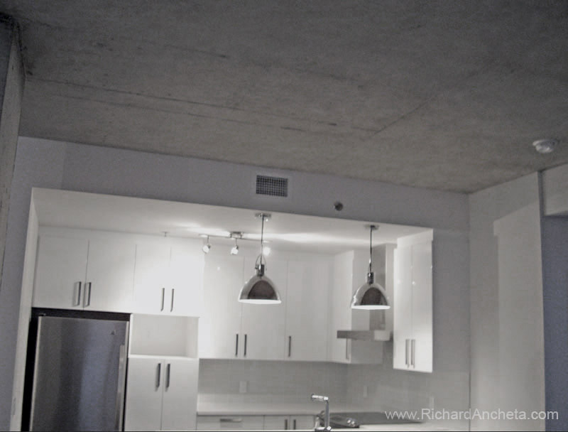 Concrete Faux Finishing Decorative Painting On Kitchen Ceiling Montreal