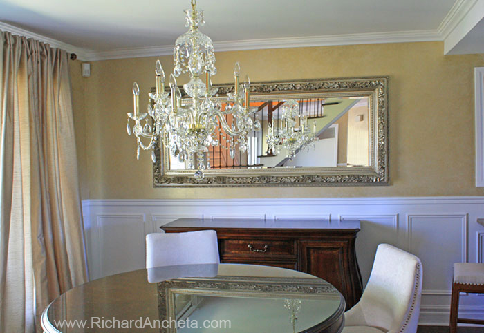 Metallic Walls Decorative Faux Finish Painting   Dining Room   Montreal