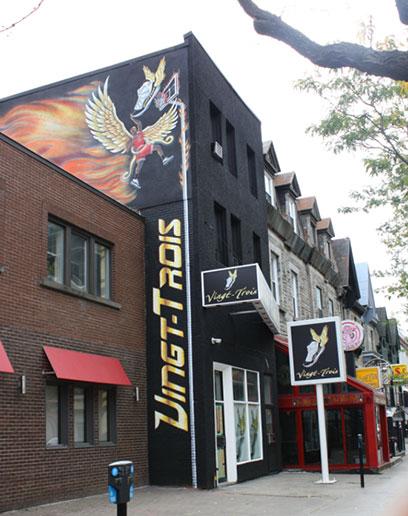Michael jordan mural paintings montreal by richard ancheta for Exterior mural painting