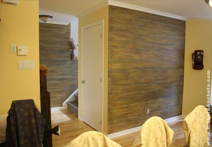 wood faux finish - montreal
