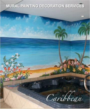 mural painting montreal - caribbean