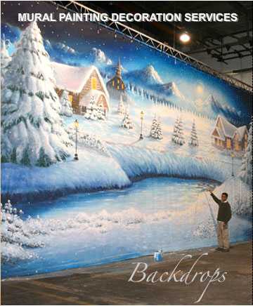 mural painting montreal - backdrops