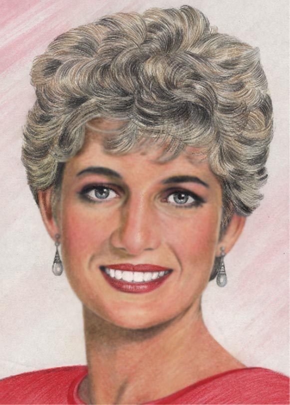 Princess Diana - Watercolor and Colored Pencils