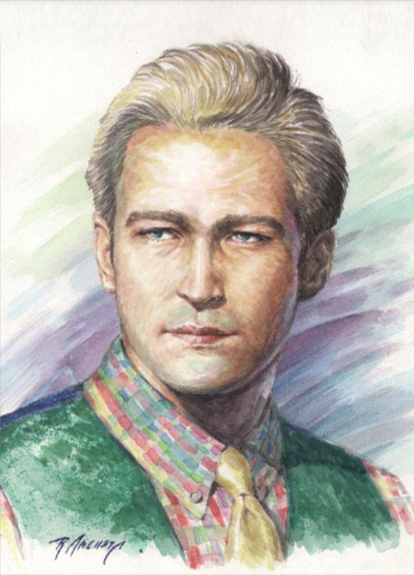 Portrait of Stephan - Watercolor Painting by Richard Ancheta