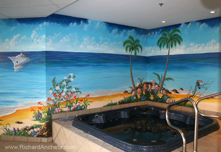 Jacuzzi and Spa - Swimming Pool Mural Painting - Montreal