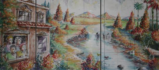 Four seasons spring summer autumn winter mural for 4 seasons mural