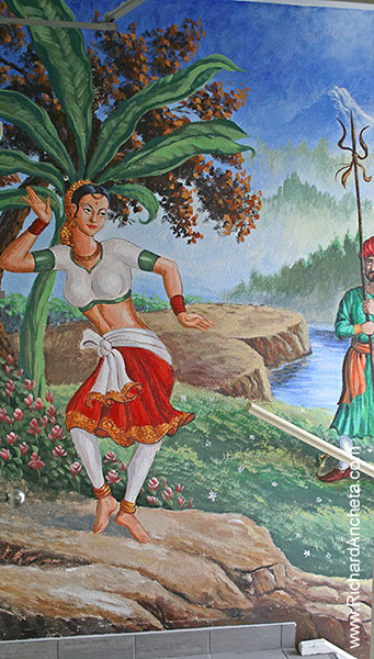 Indian Restaurant Mural Painting 1 - Montreal