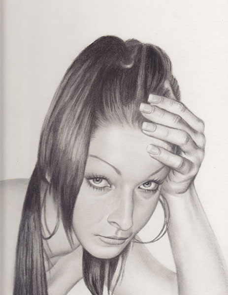 Dayna - Charcoal Portrait by Richard Ancheta - Montreal