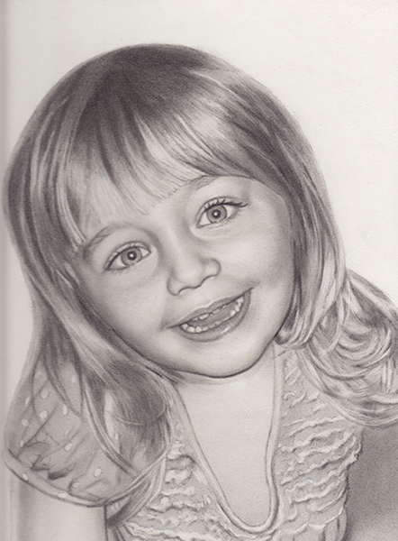 Madison - Charcoal Portrait by Richard Ancheta - Montreal