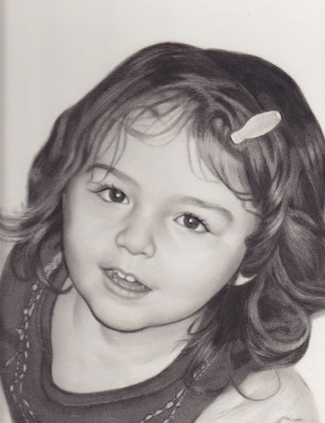 Olivia - Charcoal Portrait by Richard Ancheta - Montreal