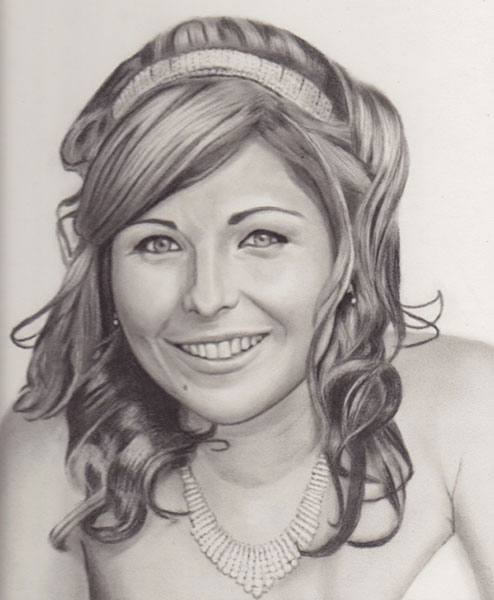Tanya - Charcoal Portrait by Richard Ancheta - Montreal