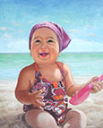baby oil portrait painting-montreal