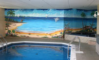 mural painting montreal - swimming pool