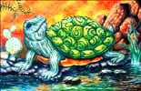 Pajama Turtle oil painting.