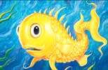 Pineapplefish oil painting.