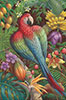 Red-and-green Macaw Oil Painting