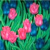 Tulips oil painting.